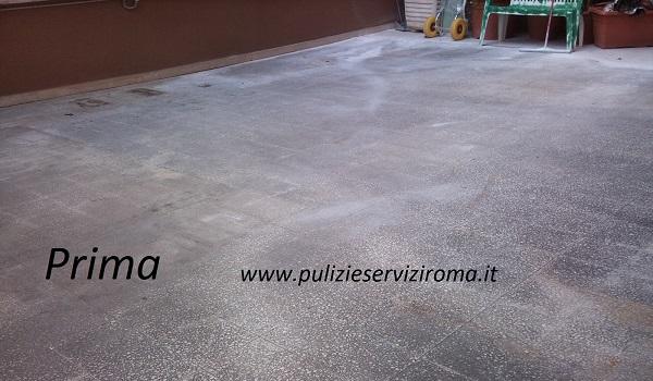 arrotatura pavimenti in terrazzo
