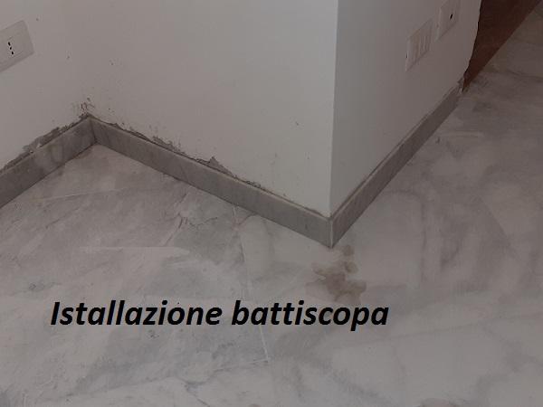 Installazione battiscopa in marmo - La Familiare - pulizieserviziroma.it