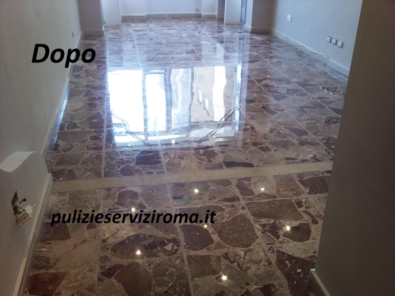 lucidatura pavimento in agglomerato di marmo - pulizieserviziroma.it