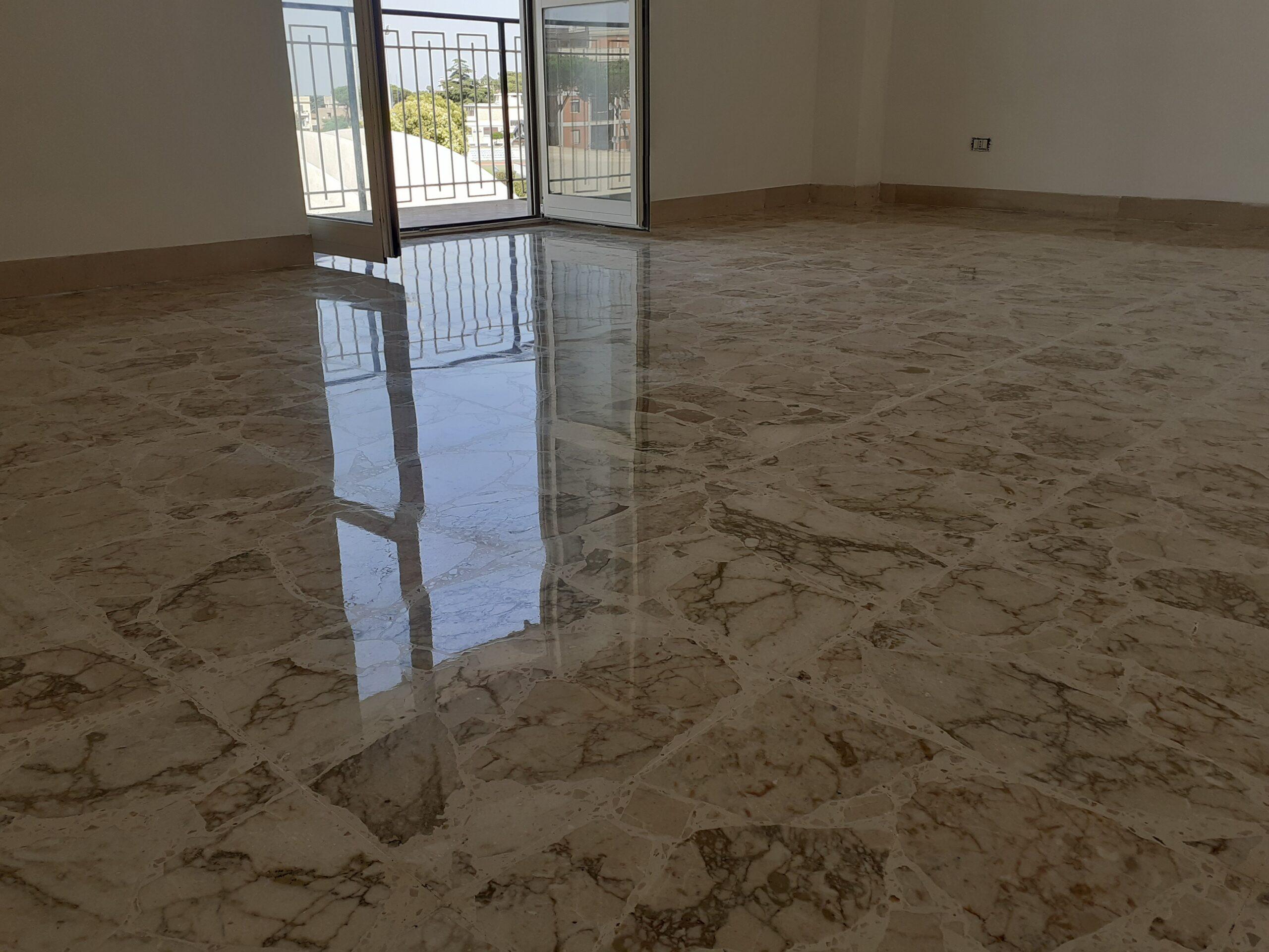 cristallizzazione pulizia pavimenti marmo