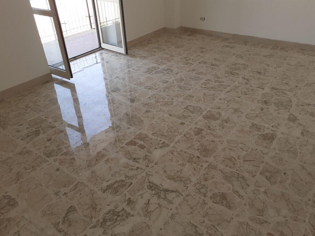 Trattamento pavimenti marmo